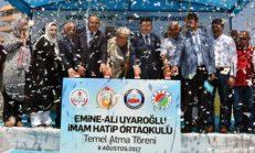 Emine – Ali Uyaroğlu İmam Hatip Ortaokulu Temeli Atıldı.