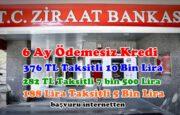 Ziraat Bankasından 6 Ay Ödemesiz Temel Destek Kredisi